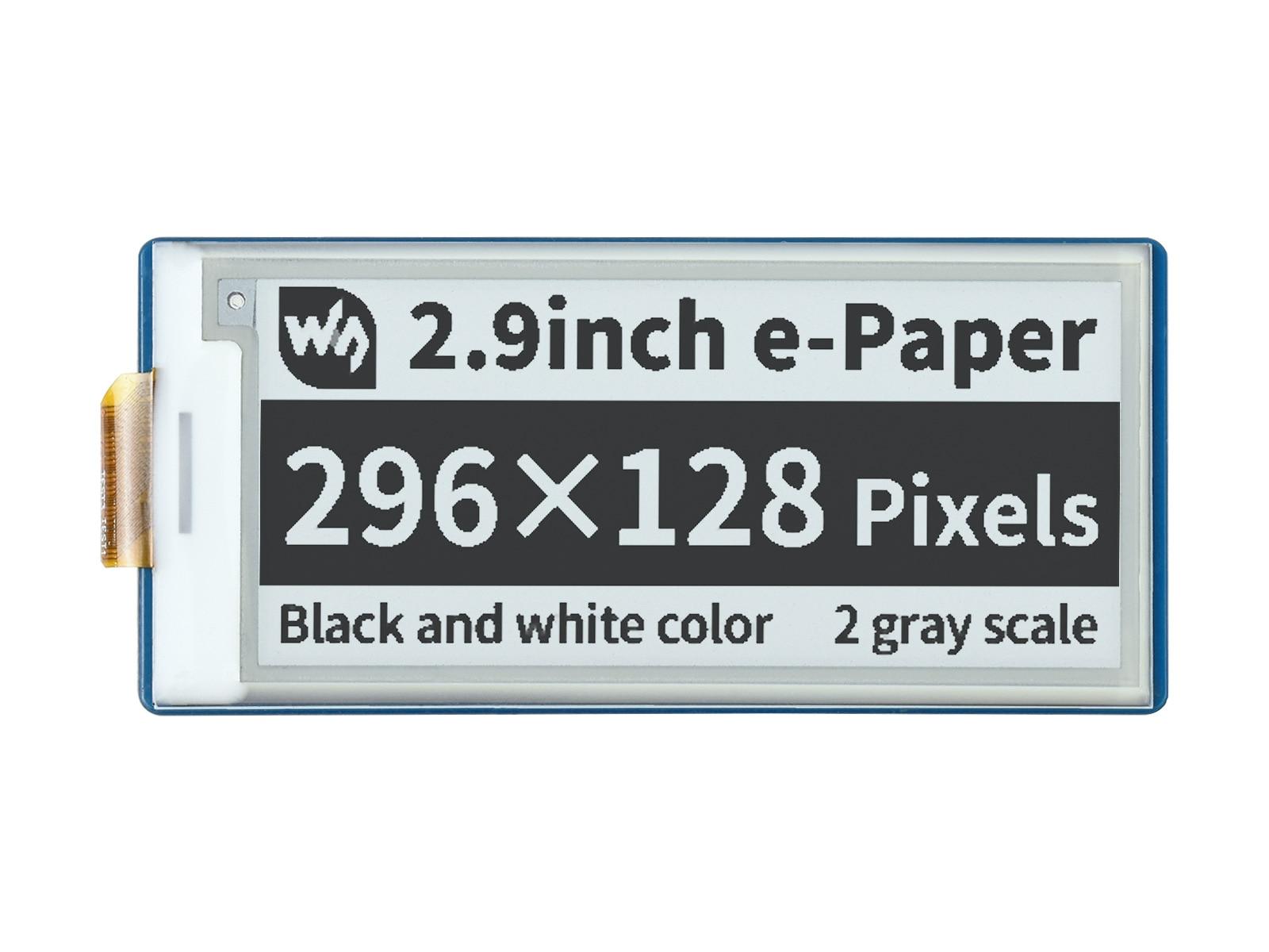 Waveshare-Módulo de pantalla de tinta electrónica, papel electrónico de 2,9 pulgadas para...