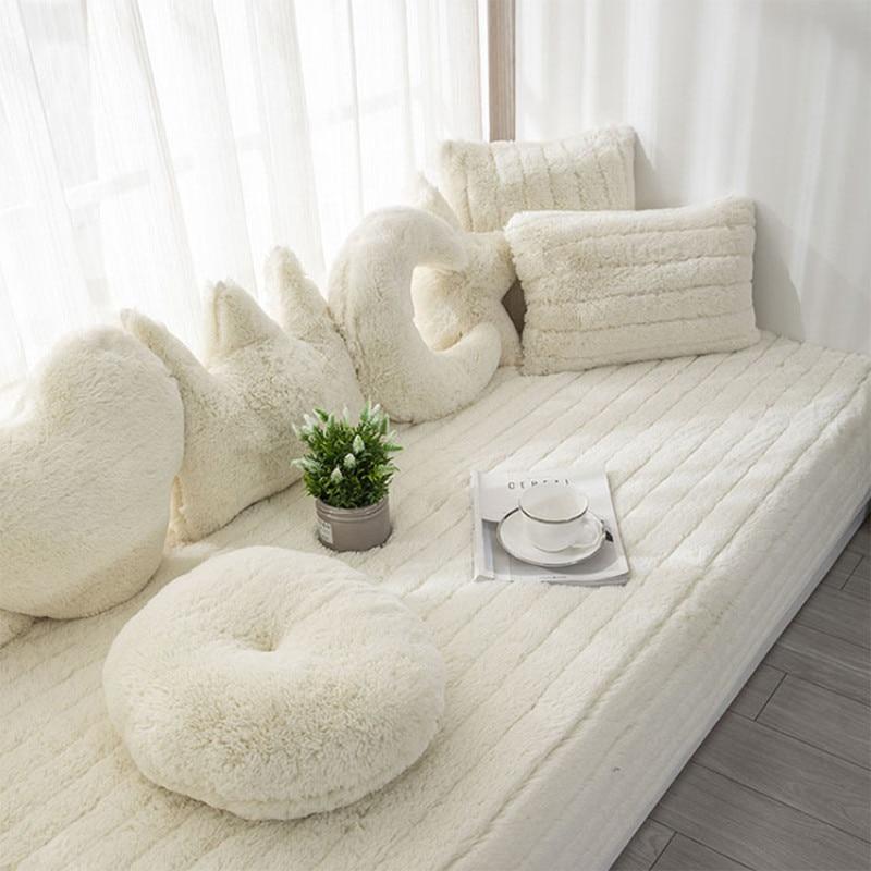 أبيض جلد الغنم أشعث رشاقته أفخم أريكة نافذة بطانية شرفة حصيرة لينة رقيق لينة الحصير السجاد فو الفراء منطقة الحديثة السجاد