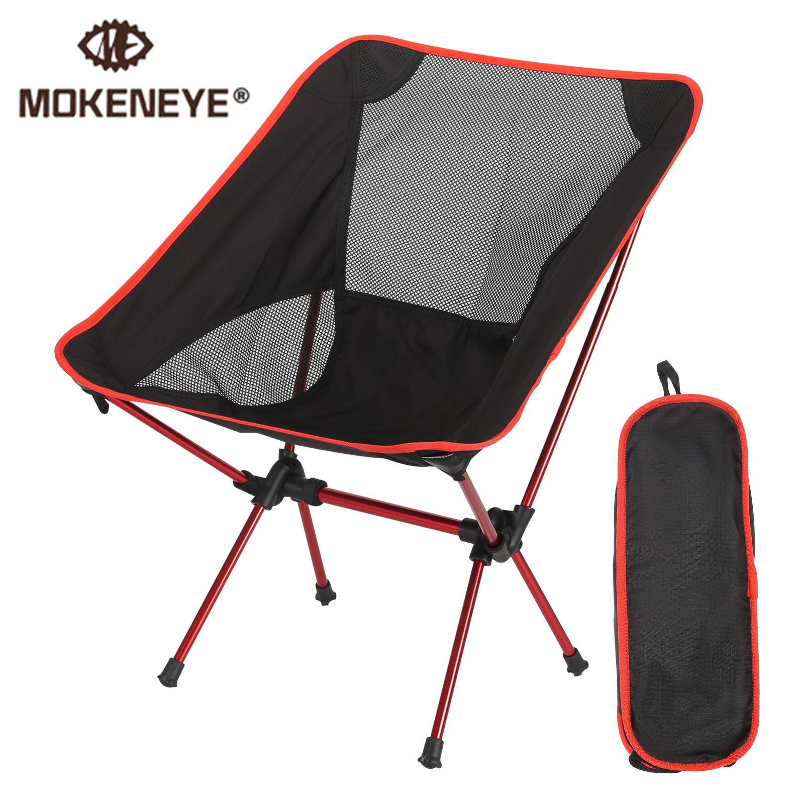 Ultralight Detachable Portable Moon Chair Lightweight Chair Folding Extended Seat Office Home Fishin