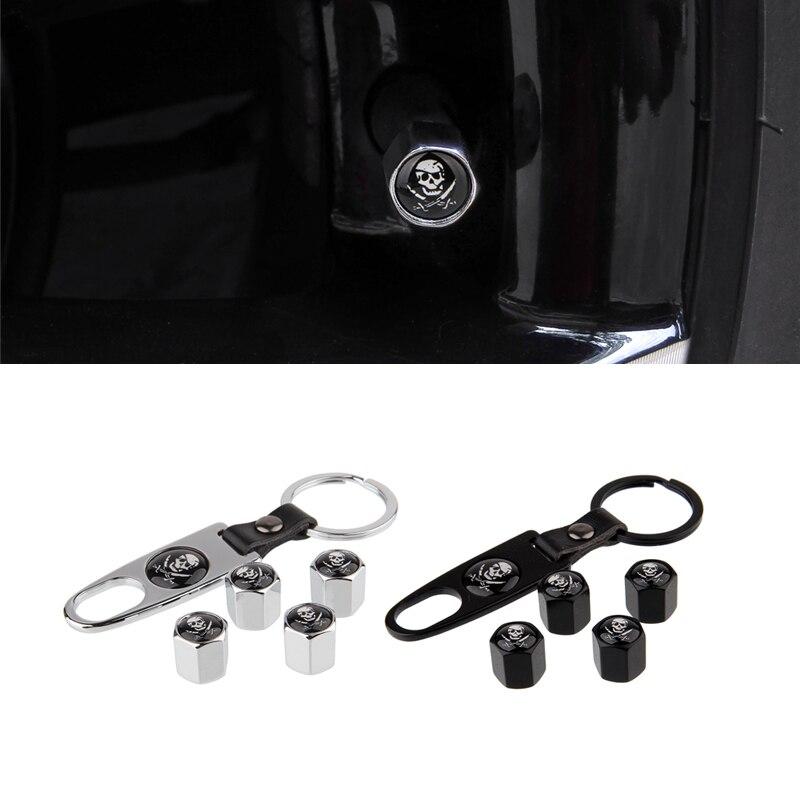 Para Nissan 370z Range Rover l322 Skoda Superb carllsson Fiat 500x KIA Ford Kuga Mercedes W204 coche cráneo diseño tapas de válvula de neumático