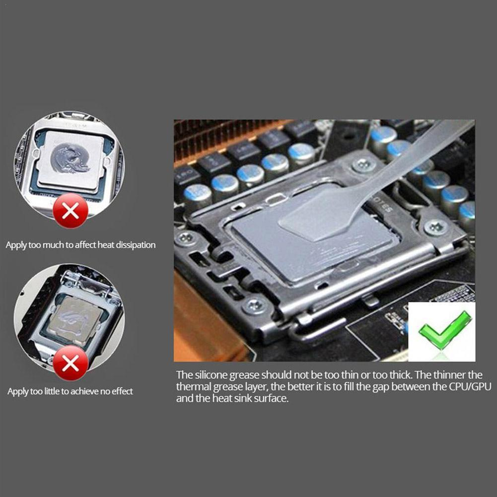 Cpu Heat Dissipation Paste Heat Dissipation Silicone Card Grease Mortar Paste Graphics Thermal Paste Silicone A4F5 high conductivity gd900 30g processor cpu radiator heat dissipation silicone paste plaster heat dissipation paste needle tube sy