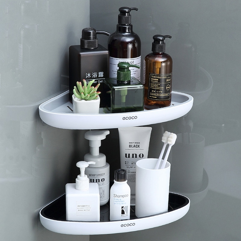 ONEUP لكمة الحرة الحمام تخزين الرف رف دش الزاوية المنزل تخزين الرف المنظم للمطبخ طقم إكسسوارات حمام