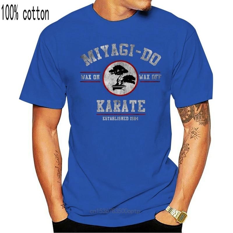 New 2021 Fashion Hot Miyagi Do Karate Kid Wax On Wax Off Men's T-Shirt Tee shirt