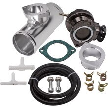 "Einstellbare Typ RS Blow Off Ventil 30PSI + 2.5 ""Aluminium Flansch Rohr BOV Adapter"