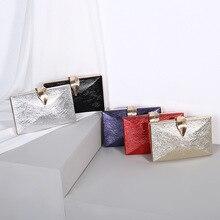 Ladies Handbag Party Purse For Bridal Metal Leaf Lock Shoulder Bag   gold clutch bag  evening clutch