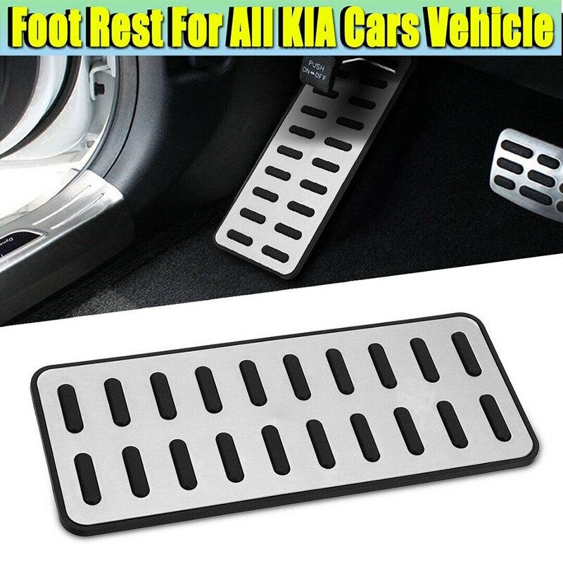 Reposapiés aluminio para automóvil, cubierta de Pedal izquierda, reposapiés ajuste para Hyundai Elantra I30 KIA Optima K5