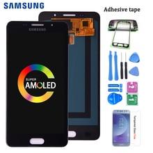 Super AMOLED LCD para SAMSUNG GALAXY A5 2016 Duos A510 A510F A5100 LCD pantalla táctil digitalizador Asamblea