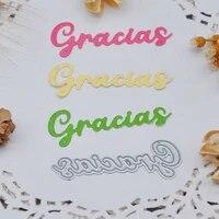 spanish phrases thank you qitai 1pcs metal cutting dies diy scrapbooking photo album paper cards making crafts supplies md393