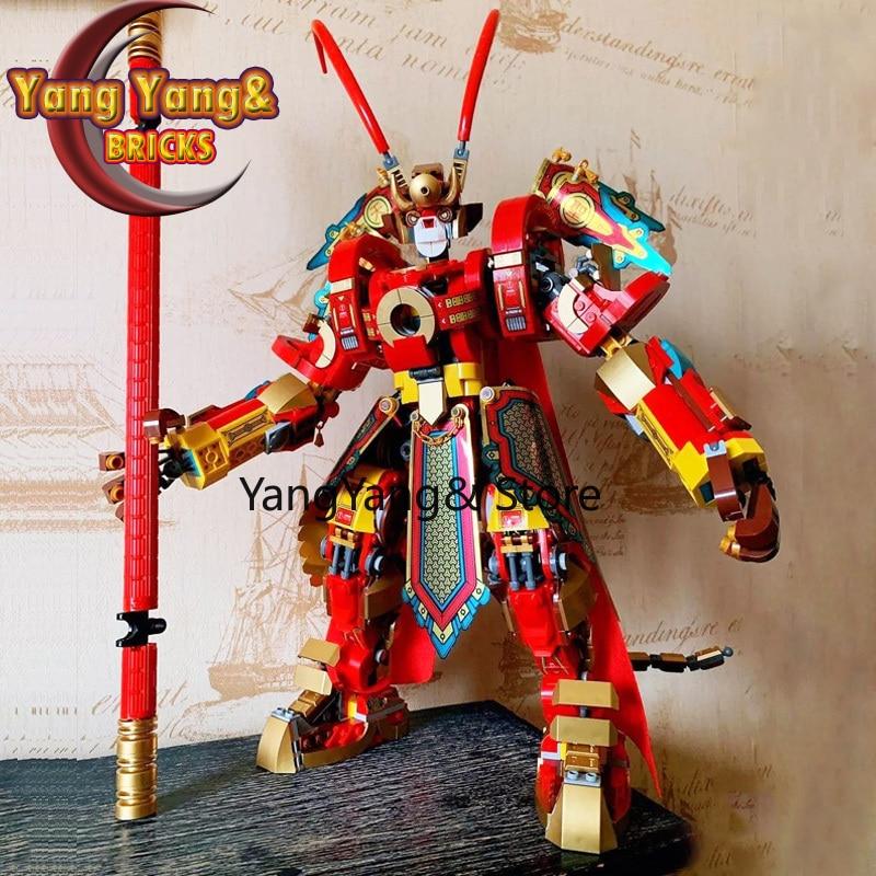 Bloques de construcción, bloques de construcción Mech, juguetes para niños 82220, Monkey King Warrior, 80012