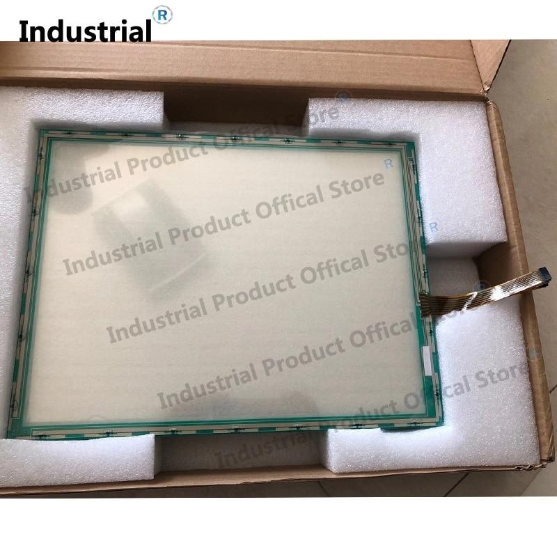 Para 15 polegada N010-0510-T222 N010-0510-T216 N010-0510-T227 digitador de vidro da tela de toque totalmente testado