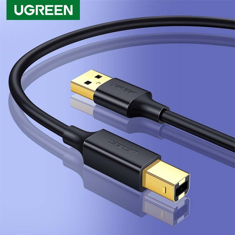 Ugreen USB Printer Cable USB Type B Male to A Male USB 2.0 Cable for Canon Epson HP ZJiang Label Printer DAC Printer High Speed