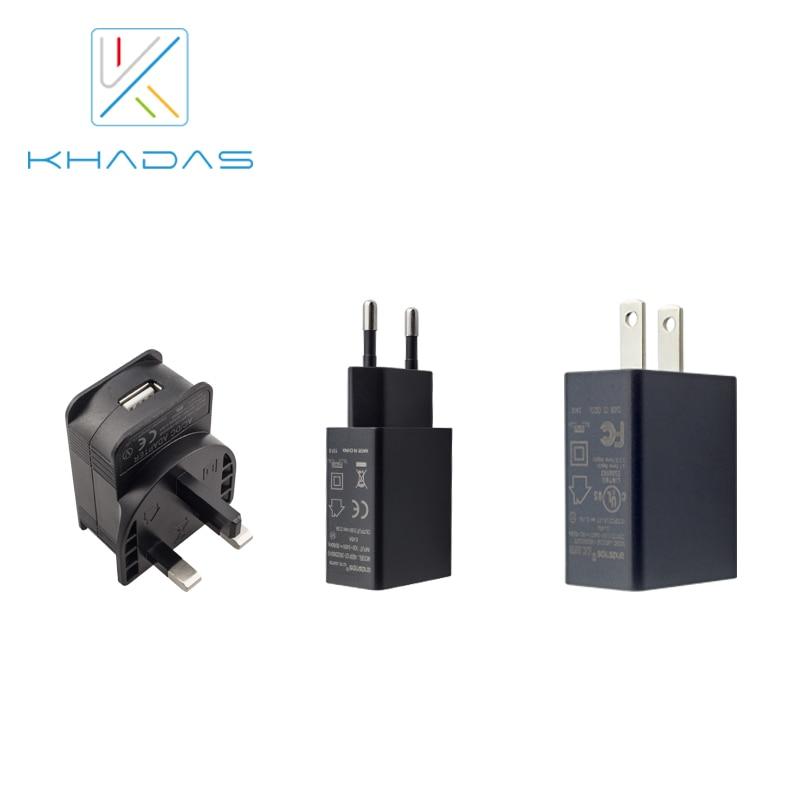 Adaptador Khadas 5V2A con certificación CE FCC para todas las VIMs