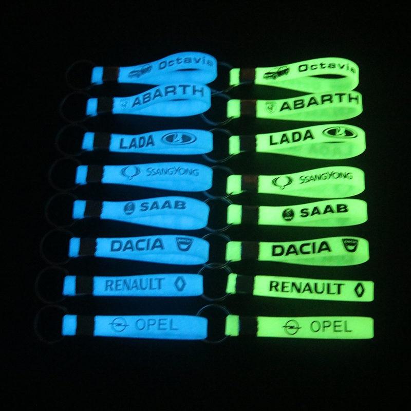 Luminous Car sticker Key Ring For Lada Renault Clio Opel Corsa Astra Dacia Lifan Daewoo Skoda Octavia Accessories Car Styling