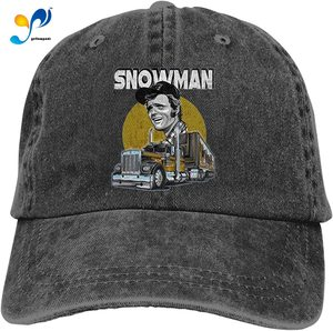 Jerry Reed Retro Sports Denim Cap Adjustable Snapback Casquettes Unisex Plain Baseball Cowboy Hat Black