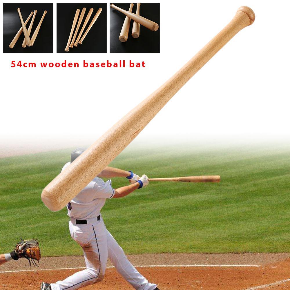 Спортивные занятия летучая мышь прочный профессиональный 1 шт 54 см деревянная наружная игра взрослые фитнес бейсбольная летучая мышь