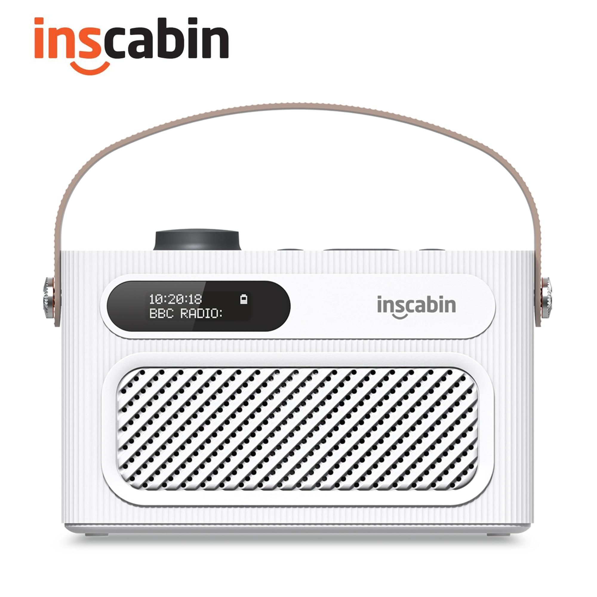 Inscabin-مكبر صوت لاسلكي محمول مع راديو DAB ، ستيريو M60 ، بلوتوث ، DAB ، FM