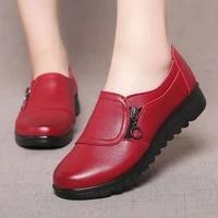 casual shoes women 2021 pu leather platform wedges shoes women lightweight waterproof slip on women shoes chaussure femme
