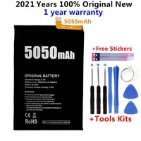 100 original bl5000 5050mah in stock new battery for doogee bl5000 bl 5000 mobile phone high quality batteries free tools