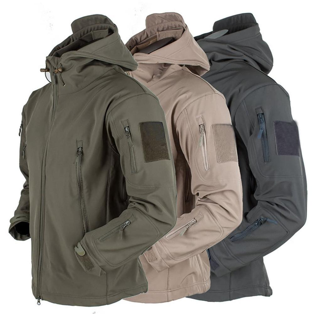 Men's jacket Outdoor Soft Shell Fleece Men's And Women's Windproof  Waterproof Breathable And Thermal Three In One Youth Hooded