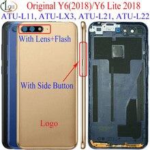 Pour Huawei Y6 2018 couvercle de batterie arrière pour Huawei Y6 Prime 2018 couvercle de batterie arrière ATU-L11 LX3 L21 L22 Y6 Lite 2017 boîtier
