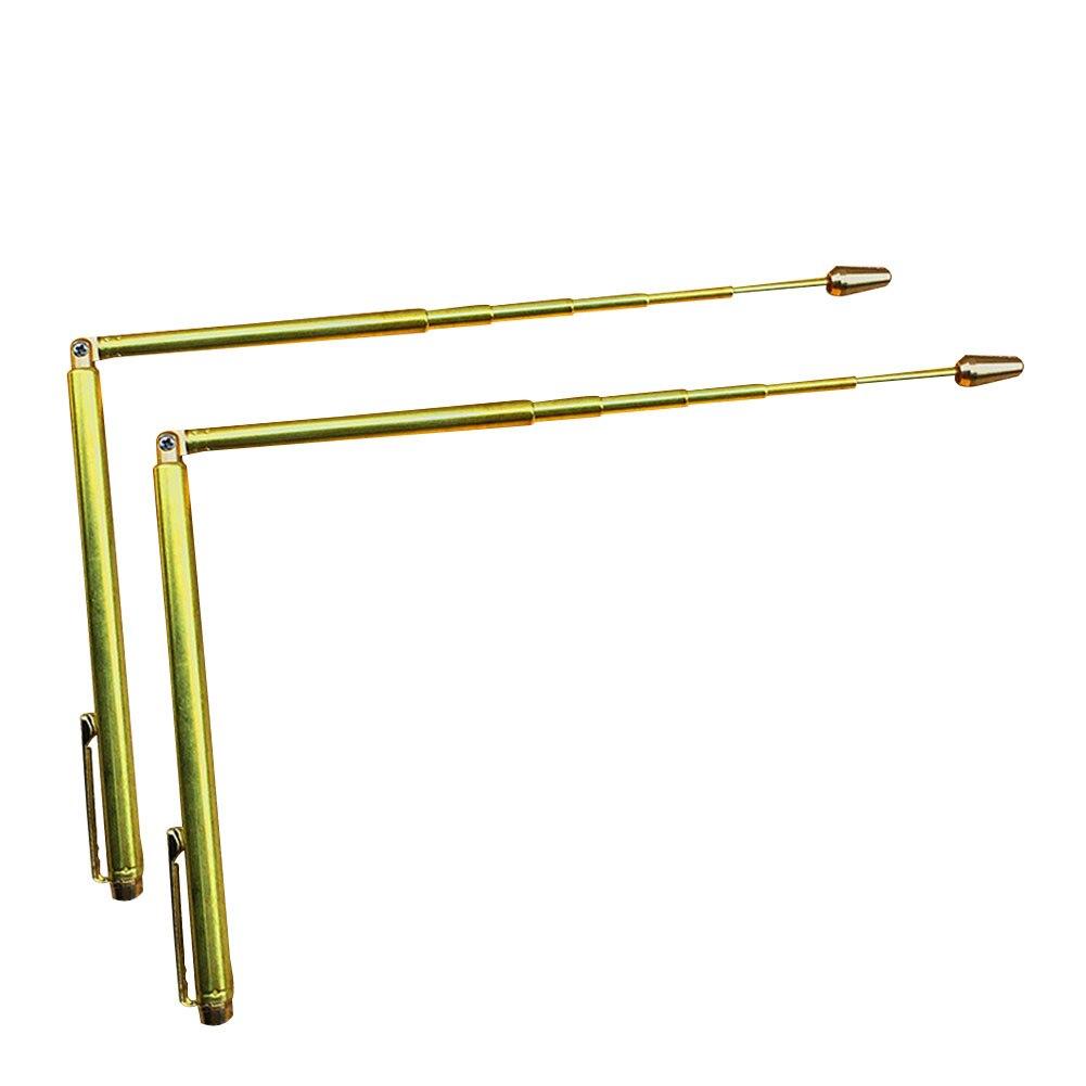 Fantasma de cobre caça dowsing divining varas detector de água witching objetos perdidos material bronze dobrado comprimento 57cm