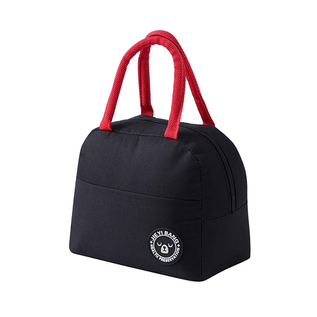 Bolsa de almuerzo con aislamiento térmico de alimentos bolsa de almacenamiento portátil de viaje de trabajo caja de Bento bolsas de comida al aire libre camping bolsa de almuerzo aislada # P