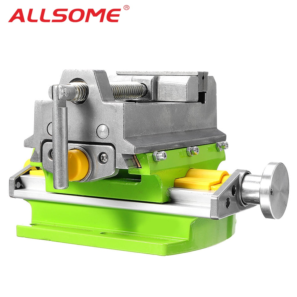 ALLSOME 3 Inch Cross Slide Vise Vice table Compound table Worktable Bench Alunimun Alloy Body For Milling drilling HT2878 enlarge