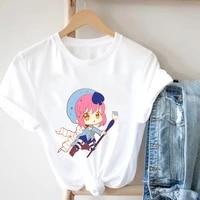 anime crtoon t shirts for girls graphic tee 90s funny harajuku clothes t shirt cat women cute female t shirt kawaii tees fashion