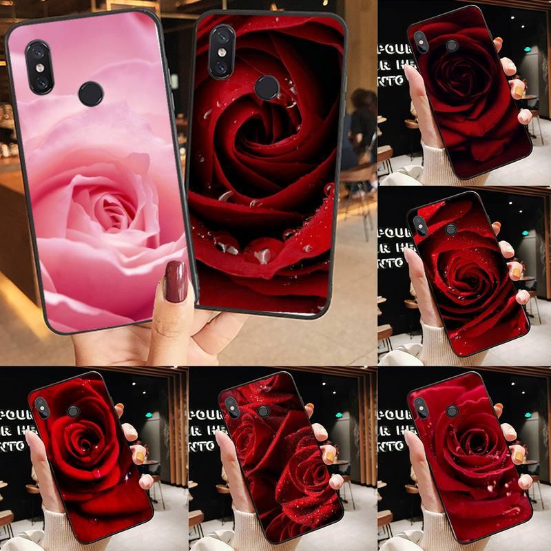 Rosa romântico agapanthus capa de telefone de casca macia para xiaomi redmi nota 4 4x 8t 9s 10 k20 k30 cc9 9t pro lite max