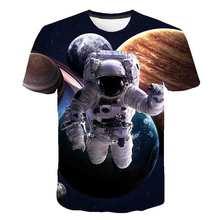 3D space astronaut T-shirt Childrens wear SpaceX Spaceship T shirt boys Rocket teens t shirts Fashion cartoon Summer Top Tee