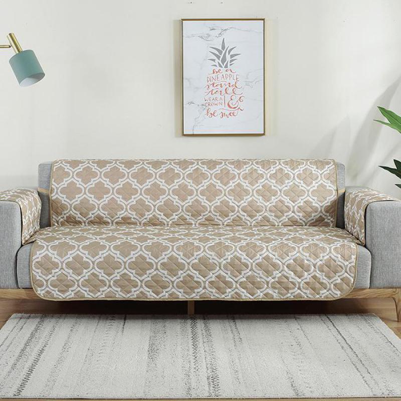 Color Beige a prueba de salpicaduras cojín de sofá fundas sofá cubierta antideslizante impermeable sofá único/dos/tres/cuatro plazas.