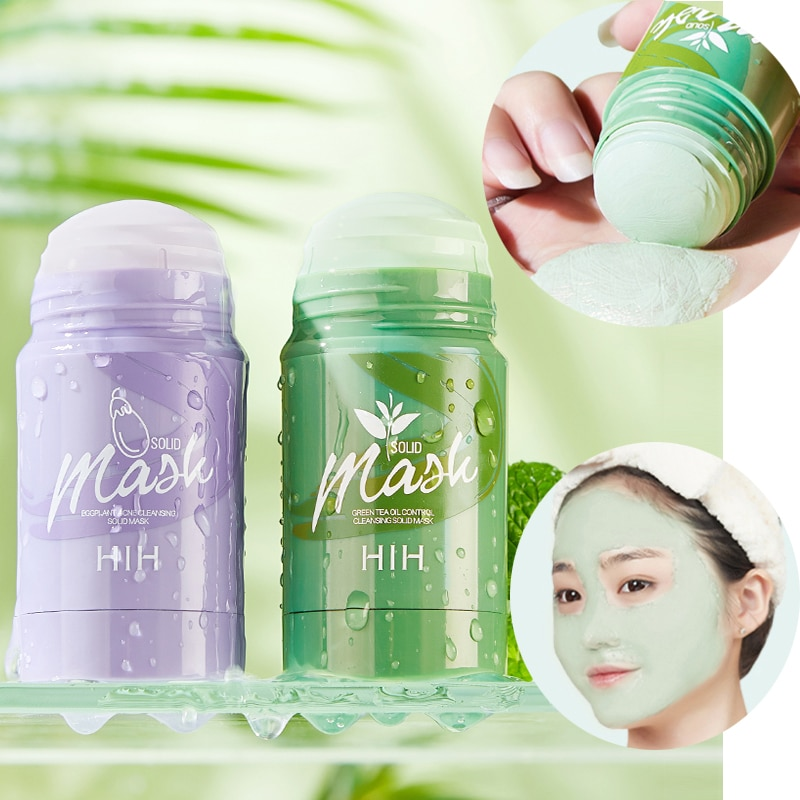dead sea mud mask deep cleaning black mask hydrating acne blemish clearing lightening moisturizer nourishing pore face cleaner 40g Green Tea Blackhead Mud Mask Skin Care Remove Acne Nose Deep Cleansing Pore Green Mask Stick Deeping Cleaner Detox Mask