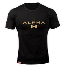 Alpha Esdoornblad Mode Zomer Korte Mouw T-shirt Mannen Merk Kleding Comfortabele Mannelijke T-shirt Print Fitness Mannen Tees