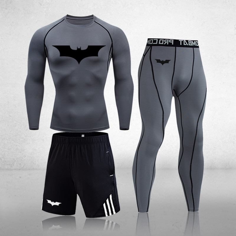Men Thermal Underwear Sets Warm Long Johns Autumn Winter Training Fitness Gym Running Tights Sports Suit Compression Underwear sports wear compression training pants men running fitness sets tights gym clothes basketball jacket leggings deportes tights s 4xl black autumn winter jogging costume