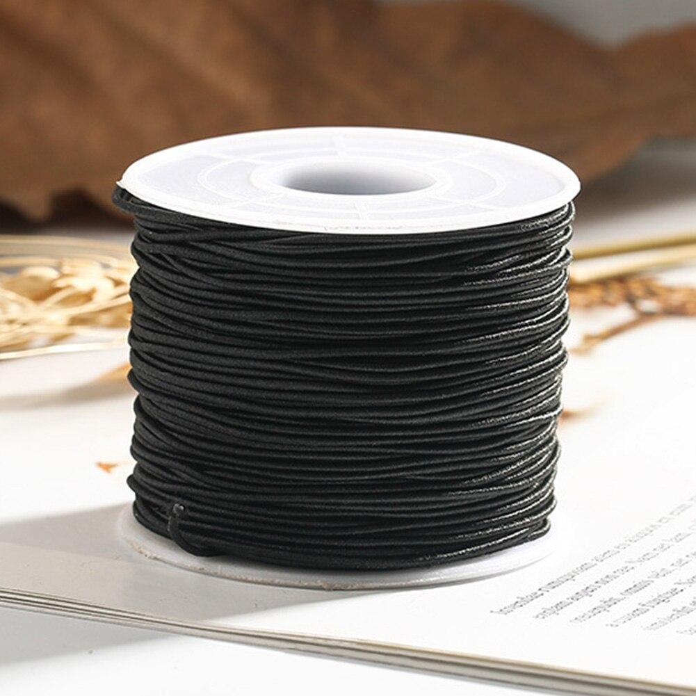 Cuerda redonda hilada con núcleo, accesorios de costura de cordón elástico, Rollo DIY, artesanía, estiramiento alto para pulsera, fabricación de joyería, collar con abalorios