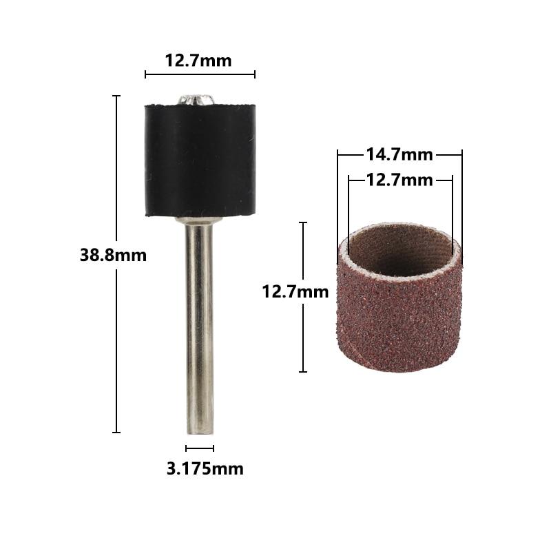 Kit tamburo levigatore da 12,7 mm grana # 80 # 100 # 120 banda - Utensili abrasivi - Fotografia 2