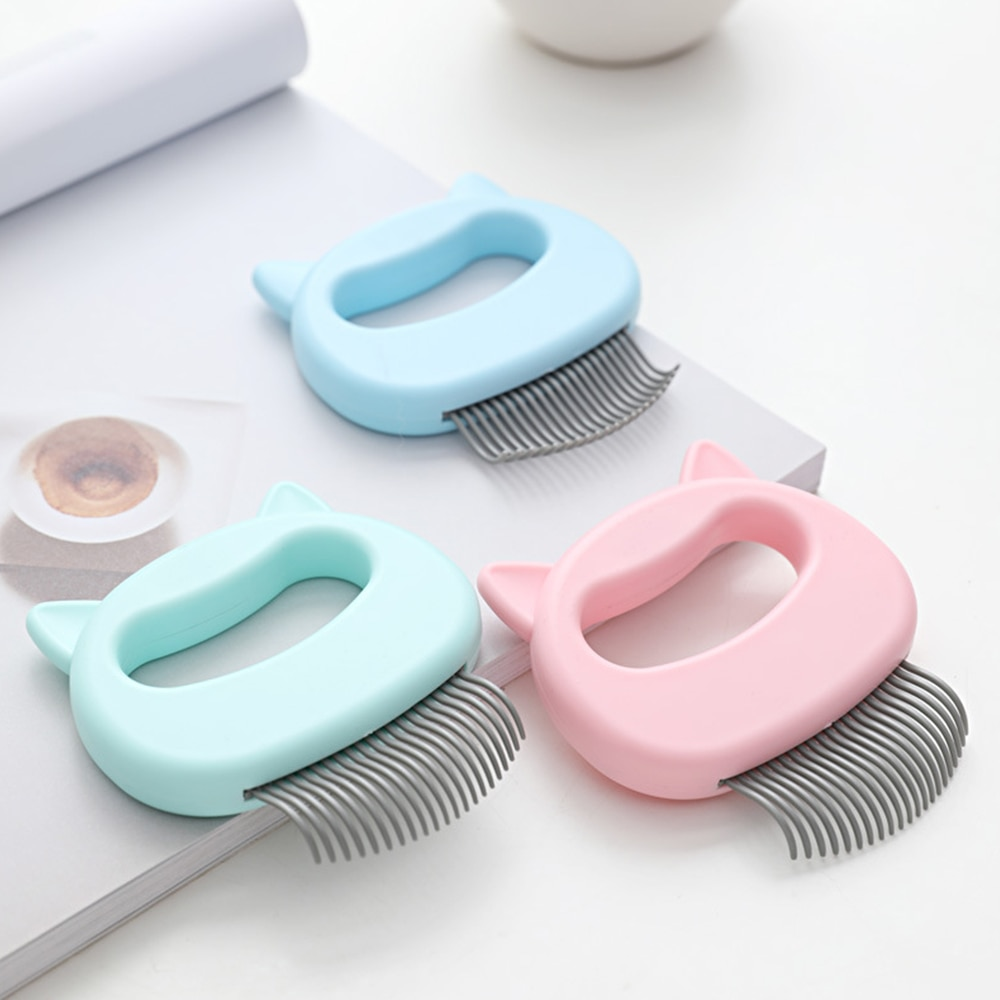 Safe soft Comb teeth Pet Massage Brush Cute Shell Shaped Handle Pets Grooming Massage Cats Dog Combs Remove Loose Shedding Hairs
