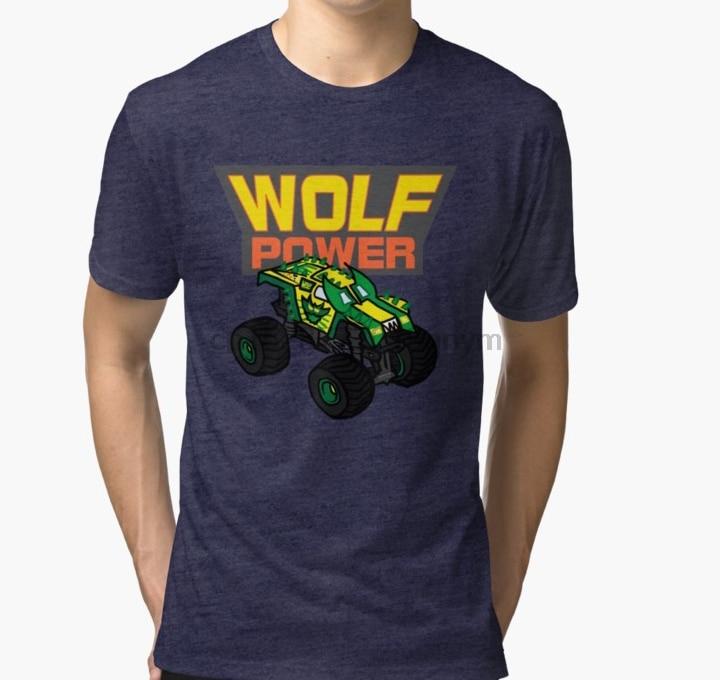 Camiseta para hombre Australian Wolf Power Monster Truck T Shirt Tri blend camiseta impresa camiseta camisetas