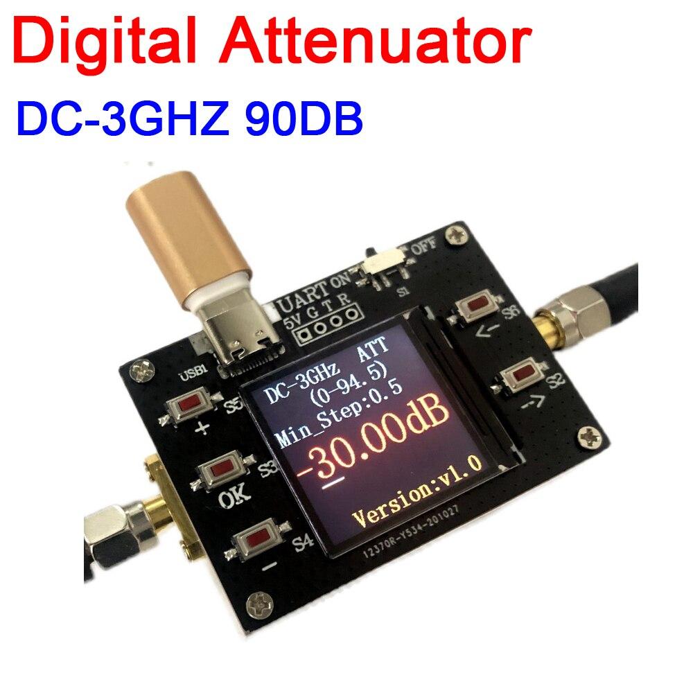 DYKB DC-3GHZ 90DB Digital Attenuator program-controller 0.5dB step TFT display supports TTL communication F Ham Radio amplifier