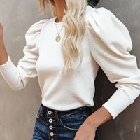 fashion 2021 fall retro hedging round neck slim womens long sleeve knitted t shirt new trend womens clothes