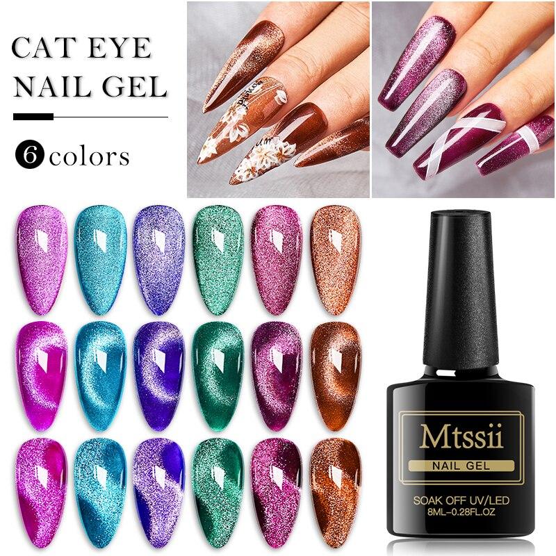 Mtssii 9D Galaxy Cat Eye Gel Nail Polish Chameleon Magnetic Magnet Laser Shining Soak Off UV/LED Varnish Semi Permanent