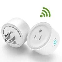 Portable Wifi prise intelligente puissance utile voix telecommande maison prise travail a distance pour Google maison pour Alexa prise intelligente