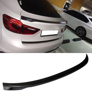 P Style Real Carbon fiber Trunks Boot Spoiler F16 X6 Fit For BMW