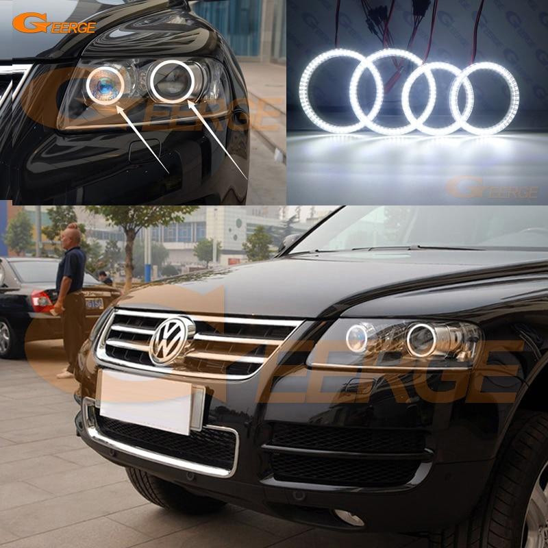 Para Volkswagen VW Touareg 7L 2003, 2004, 2005, 2006, 2007, 2008, 2009, excelente smd kit de luces led Ojos de Ángel Ultra brillante DRL