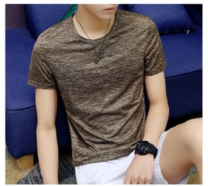 Jes661 T-shirt multi-color cotton V-neck, high comfort  Men's winter bottoming
