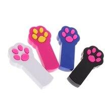 Światło podczerwone zabawka dla kota kij Teaser ćwiczenie przyrząd szkoleniowy z kształtem łapy