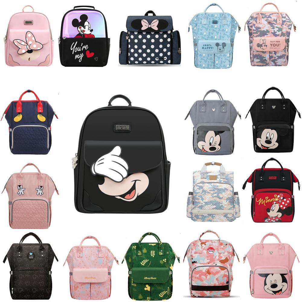 Disney USB Heating Diaper Bag Maternity Fashion Nappy Backpack Large Capacity Nursing Mom Designer Travel Backpack Mummy
