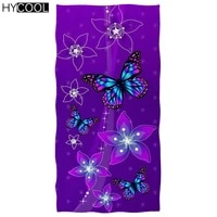 microfiber soft swimming beach towels women art color butterfly with flower pattern printing absorbent quick dry travel toallas
