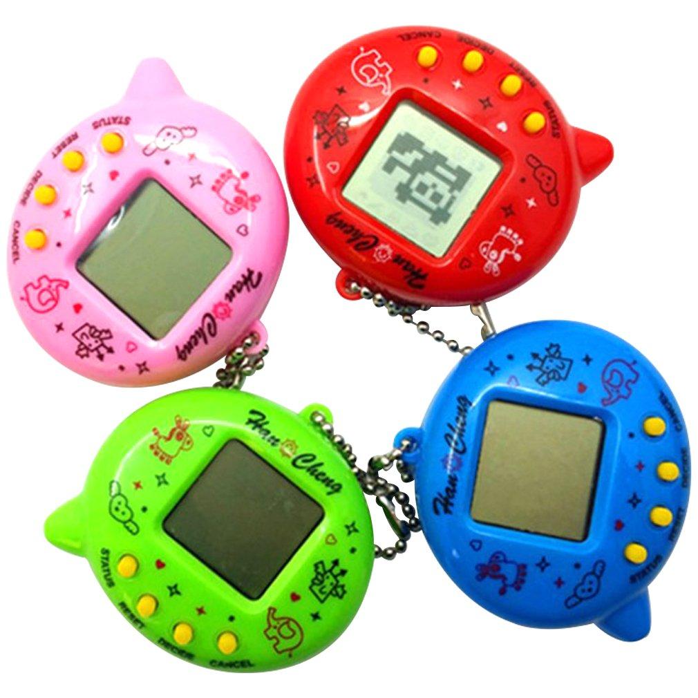 Mini Electric Intelligence Developmental Electronic Game Machine Virtual Pet Egg Shaped Video Game Console