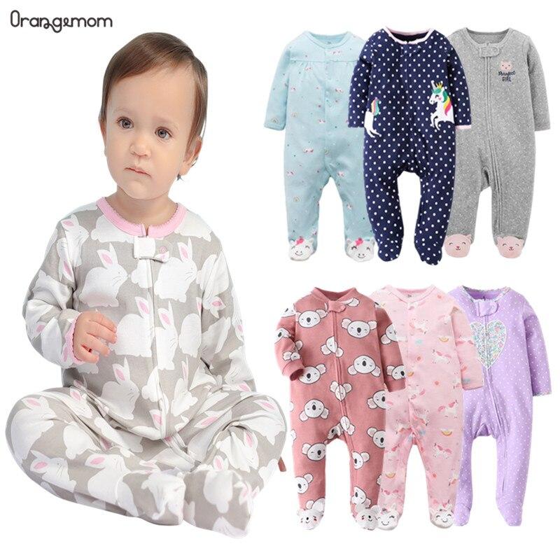 Marca orangemom tienda oficial bebé mono de dibujos animados de algodón recién nacido Ropa de niña pijamas para bebés 0-24M